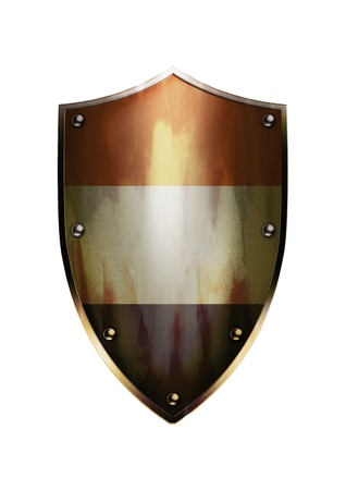 official symbol: The shield of Netherlands flag with rustic effect