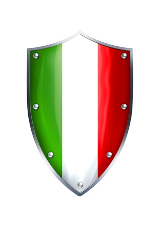The shield of Italian flag  Stock Photo - 12930114
