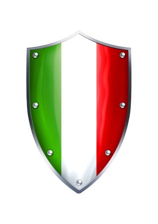 The shield of Italian flag Stock Photo - 12930114