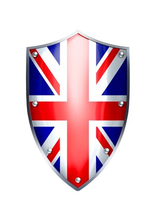 The shield of United Kingdom flag  photo