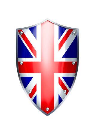 The shield of United Kingdom flag  photo