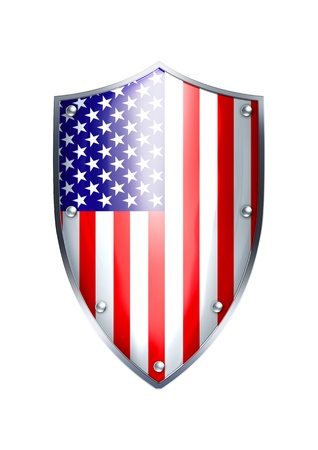 flag of usa: The shield of United States of America flag