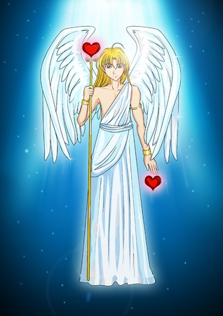 Cartoon illustration of an angel  illustration
