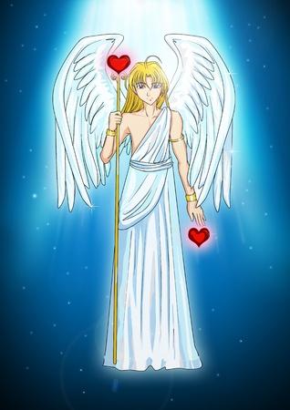 Cartoon illustration of an angel  illustration