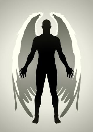 angelic: Ilustraci�n vectorial de una figura de �ngel Vectores
