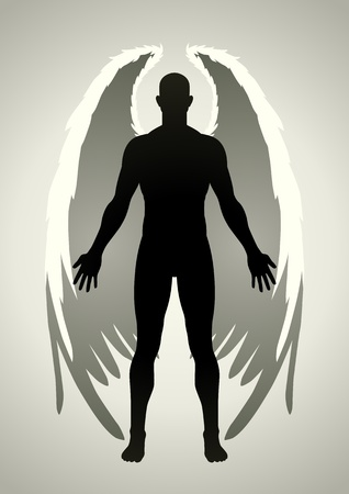 god in heaven: Vector illustration of an angel figure