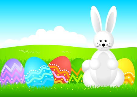 illustration of Easter bunny  Stock Vector - 13089803