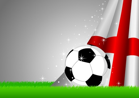 finalistin: Abbildung eines Fu�balls mit England Flagge
