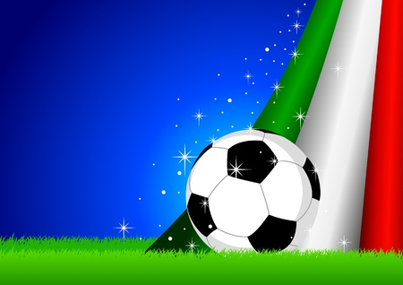 illustration of a soccer ball with Italy flag Vector