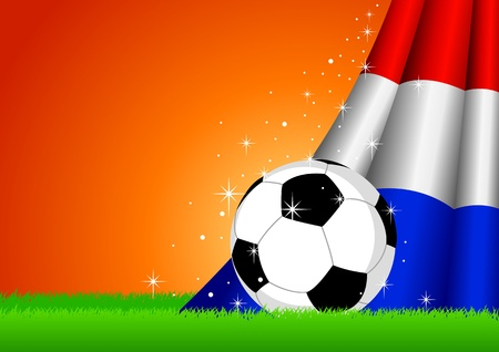 illustration of a soccer ball with Netherlands flag Vector