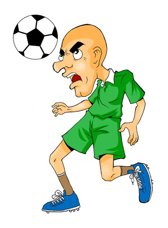 Caricature of a soccer player  Stock Photo