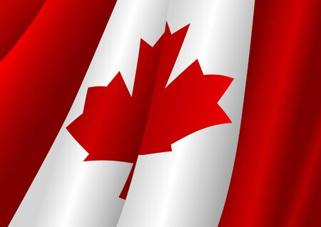 canadian icon: Vector illustration of Canadian flag