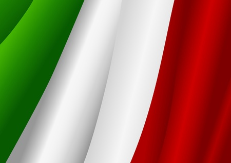 Vector illustration of Italian flag  Vector