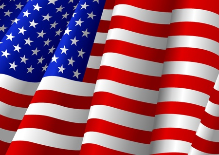 waving flag: Vector illustration of USA flag
