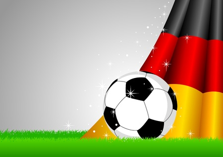Vector illustration of a soccer ball with Germany insignia  Vector