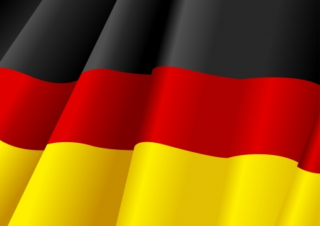 german flag: Vector illustration of German flag