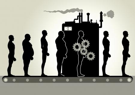 Transformación de la máquina Ilustración de vector