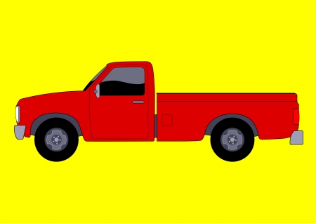 Vector illustration of a pick up truck  Vector