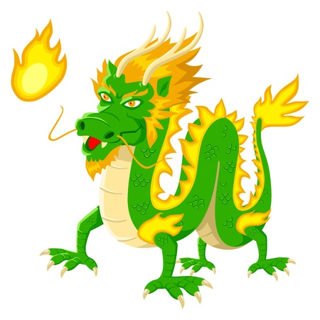 Cartoon illustration of chinese dragon Vector