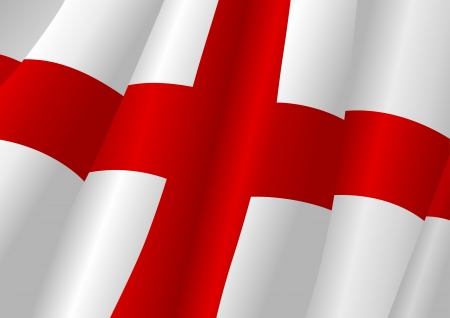 britannia: Vector illustration of a wavy England flag Illustration