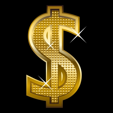 dollar sign icon: Illustration of dollar symbol  Illustration