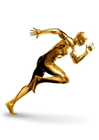 nesnel: Hızlı bir başlangıç için bir Altın adam Stok Fotoğraf