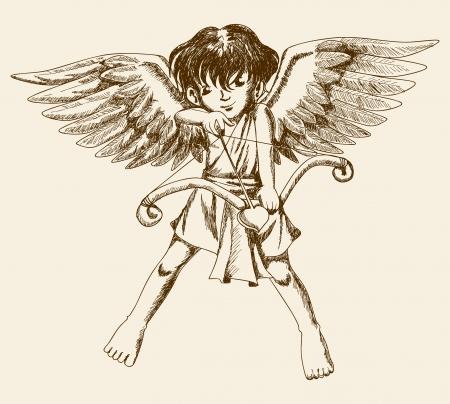 Sketch illustration of a Cupid  Vector