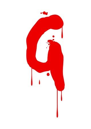blood type: Pintura h�meda tipo de letra, la letra G