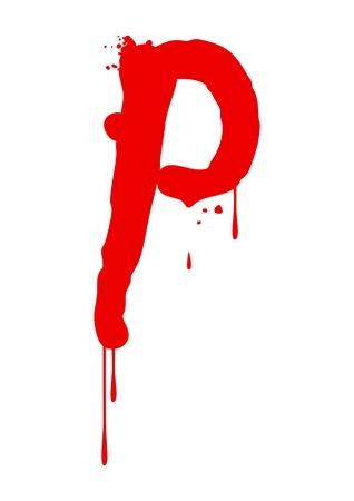 aerografo: Pintura h�meda tipo de letra, la letra P