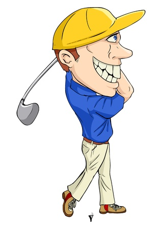 Caricature illustration of a golfer Stock Vector - 15323507