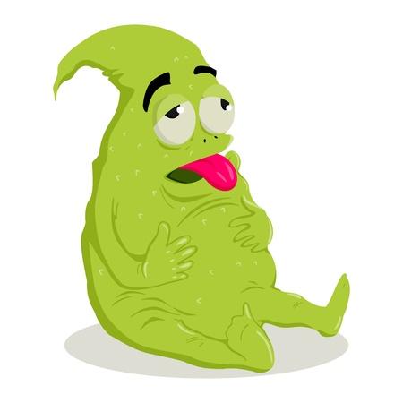bacteria antibiotic: illustration of a strange creature