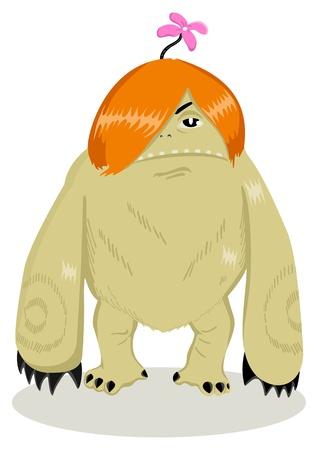 Cartoon illustration of a strange creature Stock Vector - 15440110