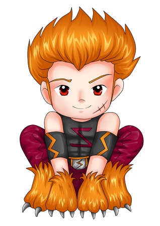 Chibi style illustration of a superhero Stock Illustration - 16340234