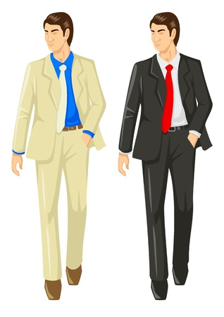 trendy male: Vector illustration of a man in suit