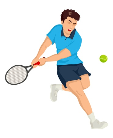 illustration of a tennis player Vector