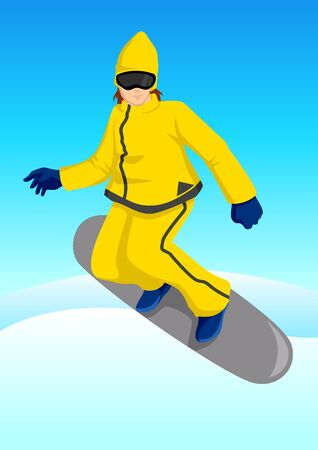 Illustration of a snow boarder Vector