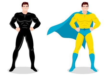 Stock vector of a superhero posing
