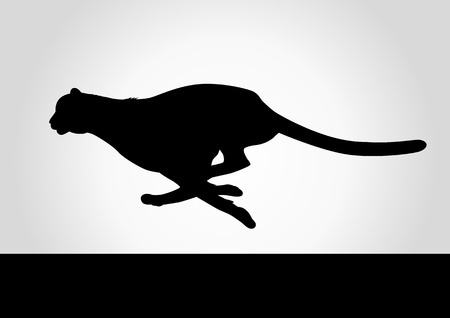 safari animals: Silhouette illustration of a cheetah