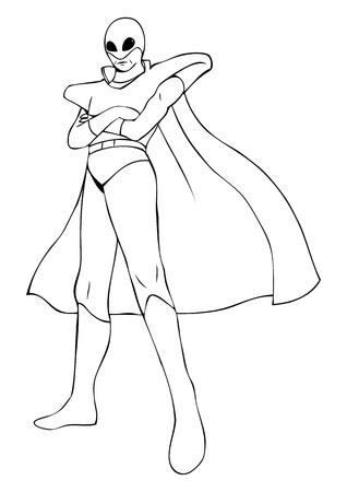 marvel: Prinzipdarstellung eines Superhelden in Raumanzug