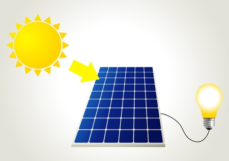 Schematic illustration of solar panel Vector