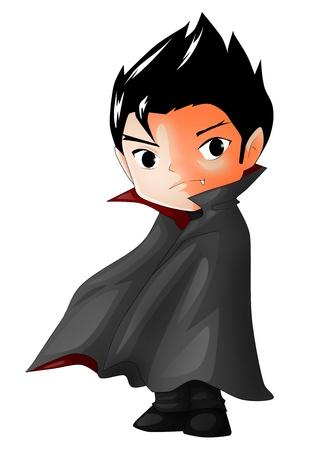 mythological character: Cute cartoon illustration of Dracula