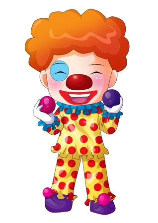 Cute cartoon illustration of a clown illustration