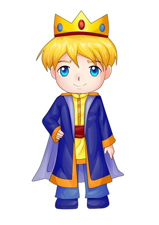 nobleman: Cute cartoon illustration of a king