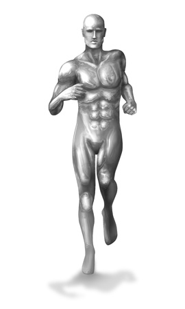 A Chrome man in running pose Stock Photo - 18890879