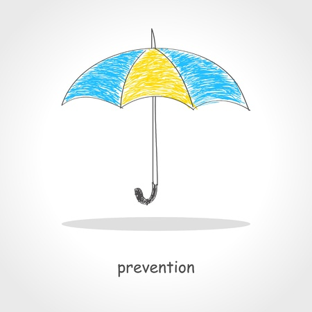 Doodle style illustration of an umbrella Vector