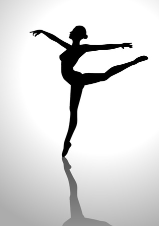 Silhouette illustration of a ballerina Vector