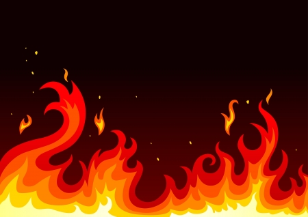 inferno: Illustration of fire on dark background