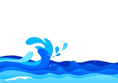 swell: Illustration of ocean waves