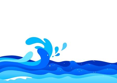 ocean cartoon: Illustration of ocean waves