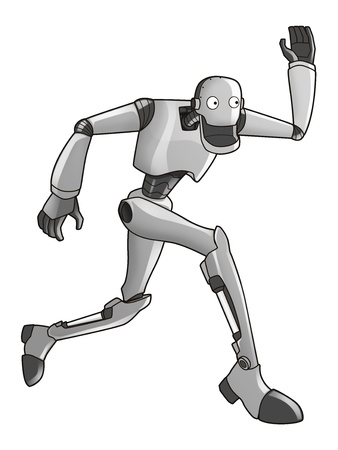 droid: Cartoon illustration of a robot
